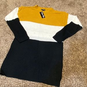 NWT Evelyn Taylor Color block Tunic Sweater READ